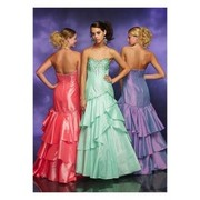 Embroidery A-Line Sweetheart Taffeta Evening Dress with Floor Length