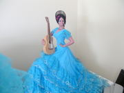 A SPANISH DOLL 24'' HIGHT CHICLAN IT IS AN ANTIQUE OF 1920'S